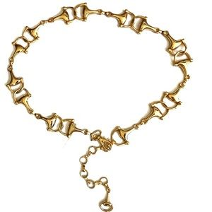 Accessories - Vintage horse bit gold chain belt made in Italy